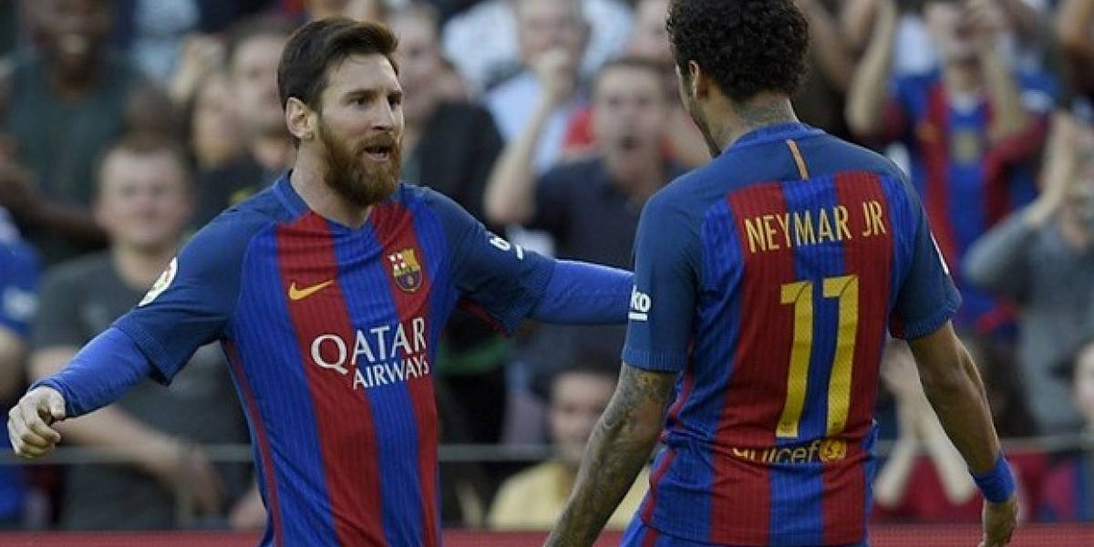 Así se despidió Messi de Neymar