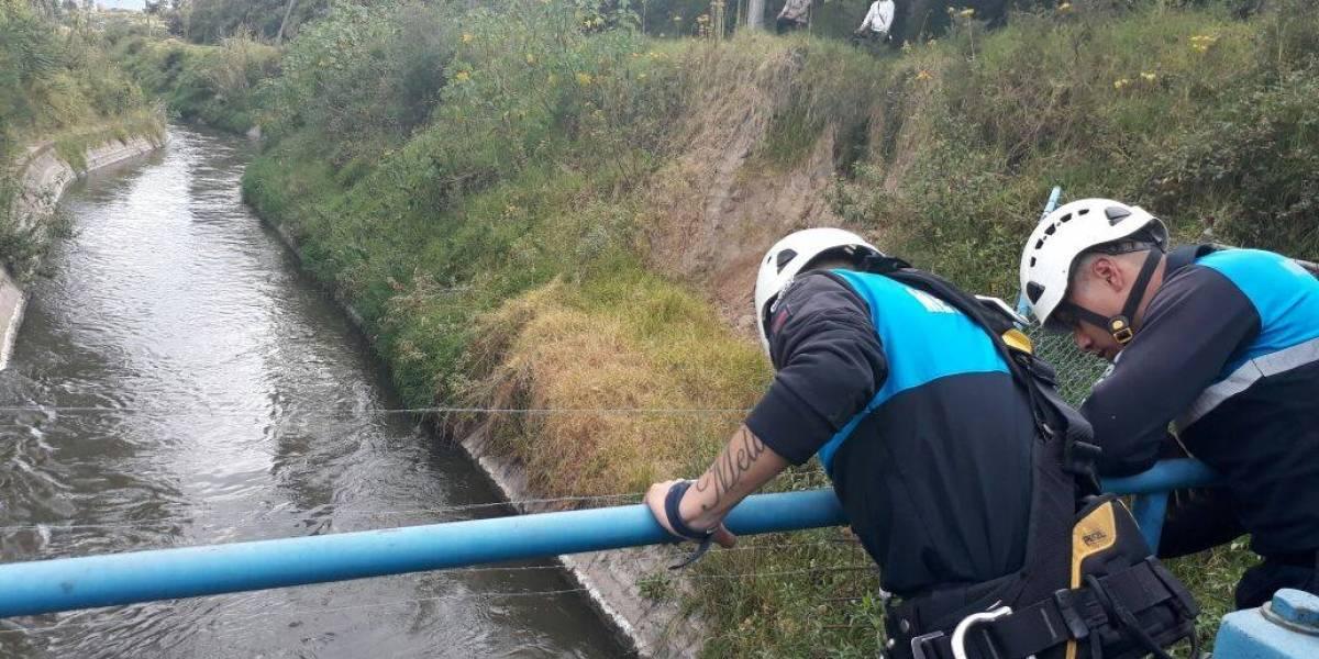 Un menor de edad habría caído en el reservorio de Guangopolo