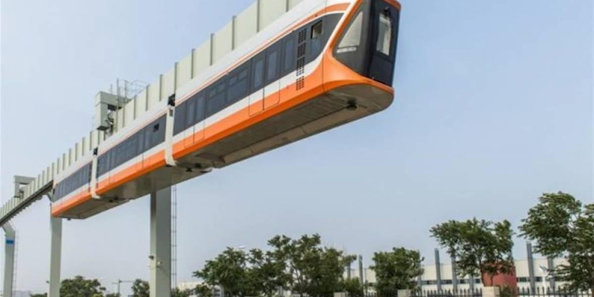 Inicia pruebas el tren colgante más rápido de China