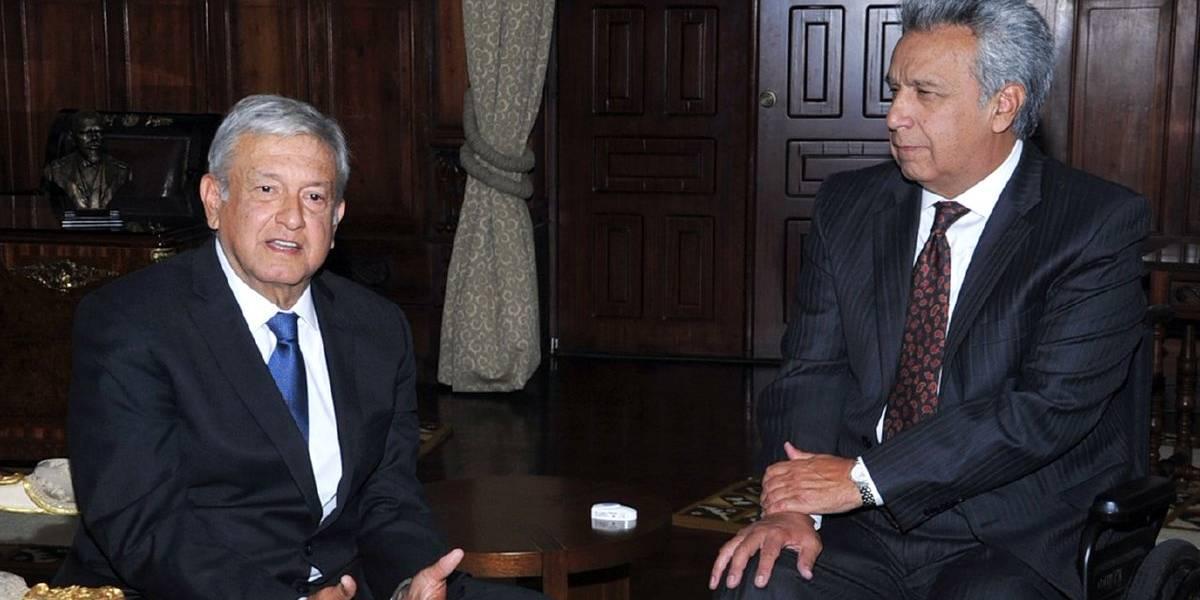 López Obrador presenta su 'proyecto de nación' al presidente de Ecuador