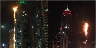 Se incendia torre The Torch en Dubái