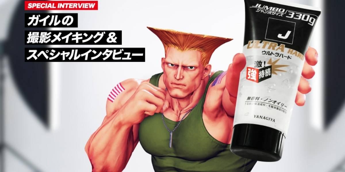 Guile de Street Fighter ahora vende gel en Japón