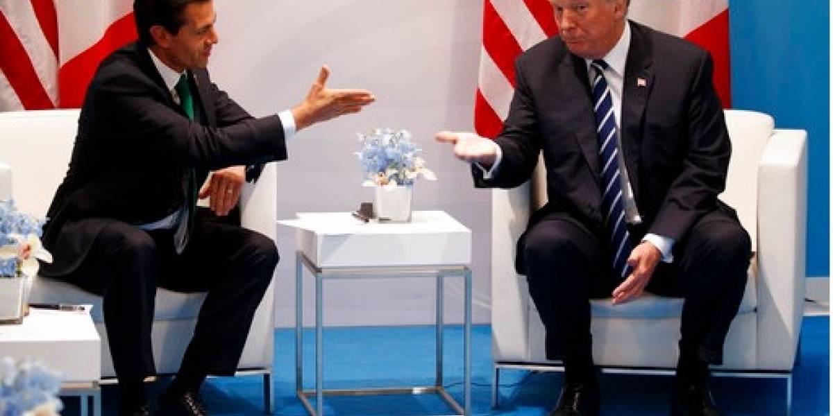 A la luz pública diálogo entre Trump y Peña Nieto sobre el muro