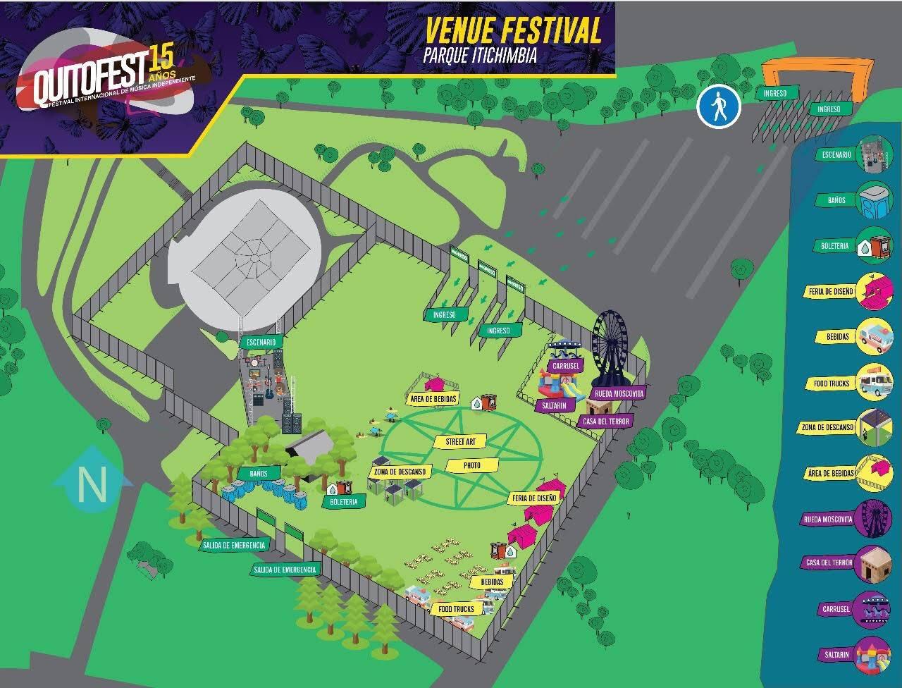 Plano del evento Quitofest 2017