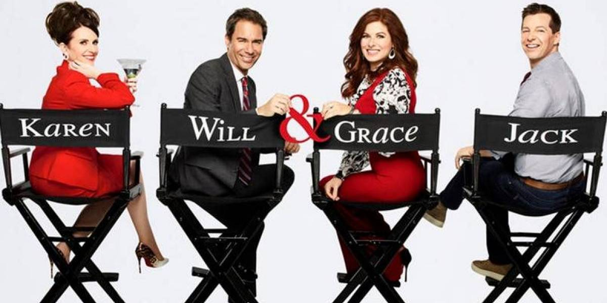 "El sensual poster del elenco para promover ""Will and Grace"""