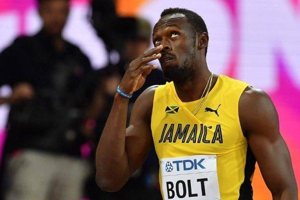 Bolt no quedó conforme con su primera salida a la pista / imagen: AFP