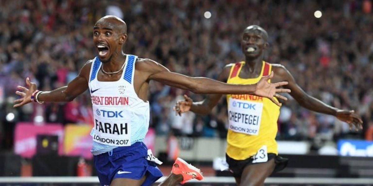 Mo Farah conquistó Londres en su despedida y revalidó su título mundial
