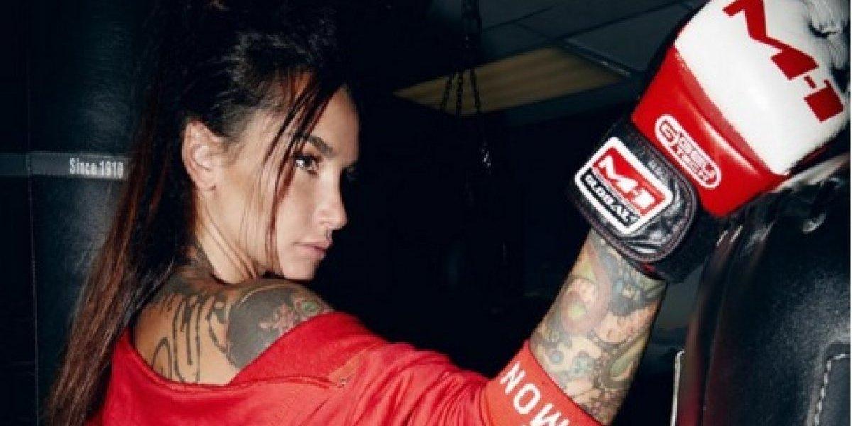 Angelica Anderson, la sexy presentadora de AMM que distrae a todos durante las peleas