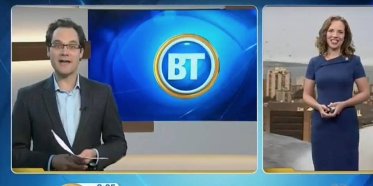 Quería ser famosa: gaviota mutante sabotea en vivo el informe del tiempo en la TV