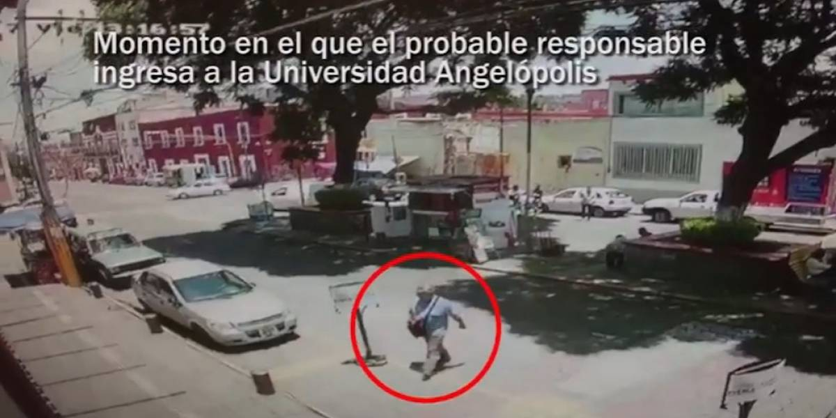 Video: Así escapó el asesino del rector de la Universidad Angelópolis