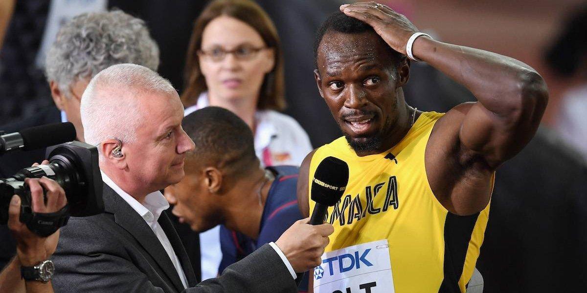 VIDEO: Lamenta Usain Bolt mal arranque en el Mundial del Atletismo