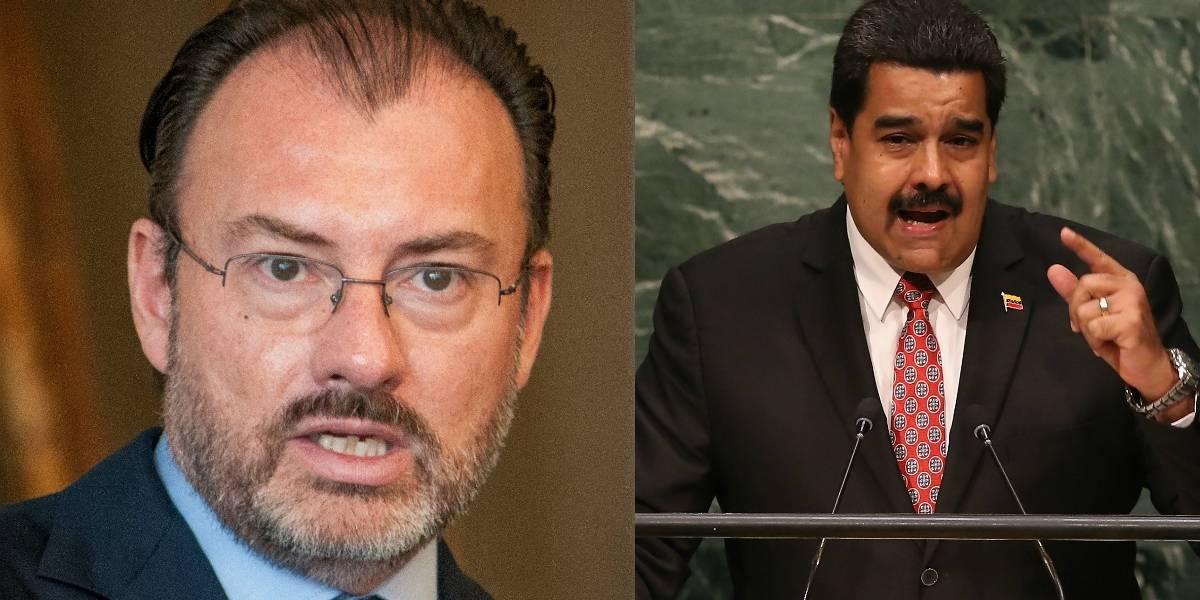 Videgaray defiende a Peña Nieto y le responde a Nicolás Maduro