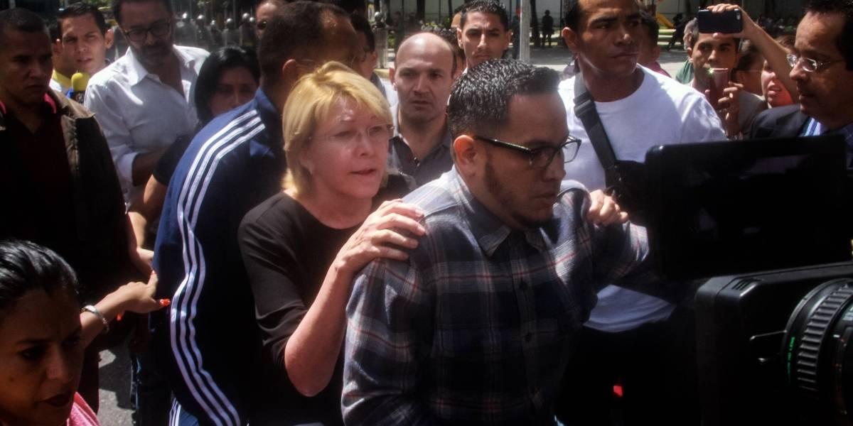 Video: así salió la fiscal venezolana, destituida mediante la Constituyente