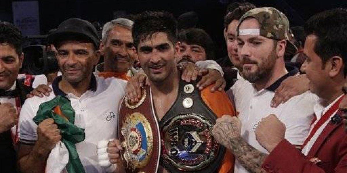 Boxeador indio vence a rival chino pero rechaza el cinturón