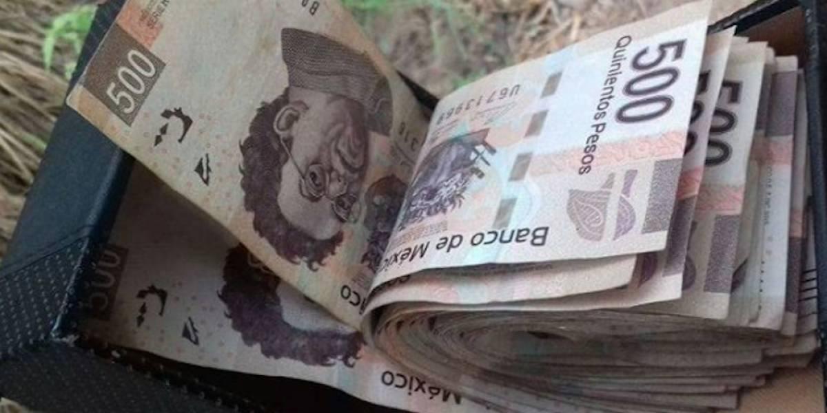Esconden 20 mil pesos en parque de Culiacán