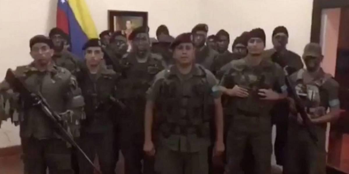 Militares se levantan contra el gobierno de Maduro en Venezuela