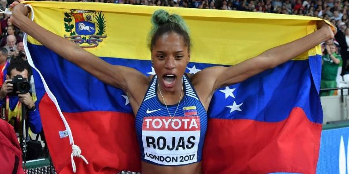 Venezolana Rojas da la gran sorpresa al ganar oro en salto triple del Mundial de atletismo