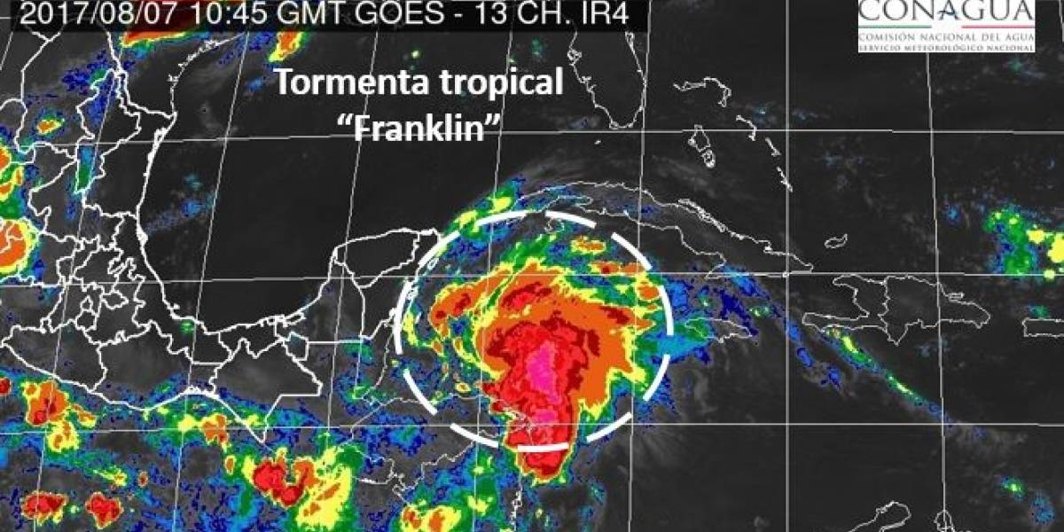 Se forma al sureste de Chetumal tormenta tropical Franklin