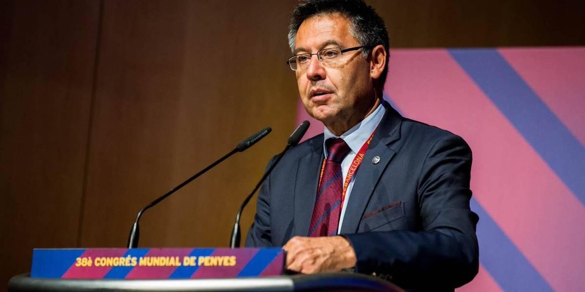 Presidente del Barça critica a Neymar y pone de ejemplo a Messi