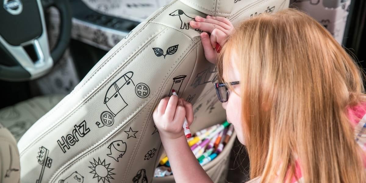 La receta de Hertz al tedio de los niños en viaje: un auto para pintar