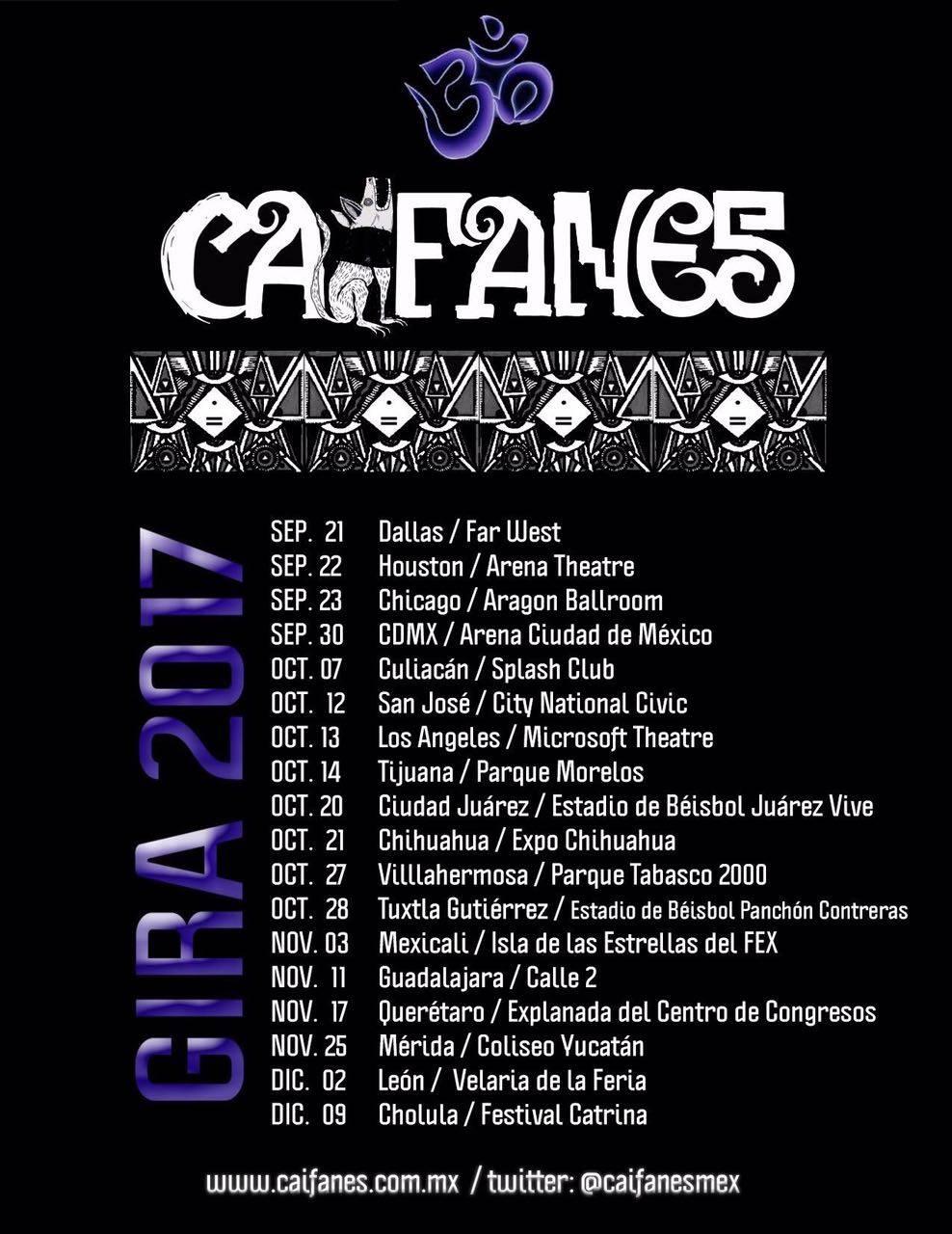 Calendario de conciertos