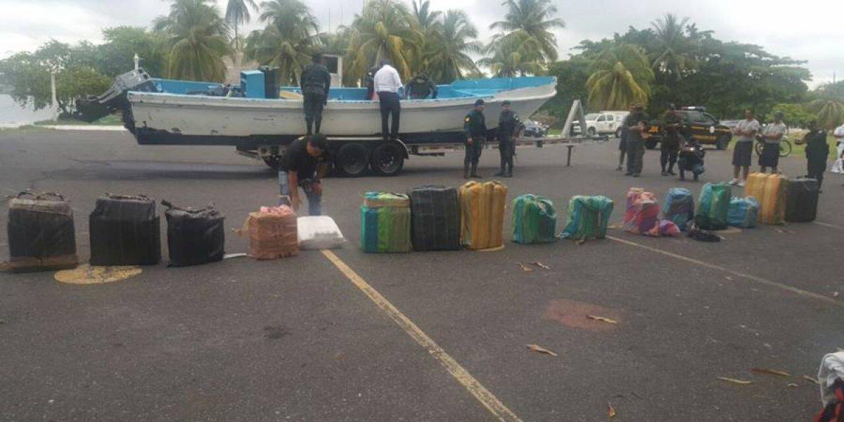 Tres colombianos capturados por transportar 580 kilos de presunta cocaína