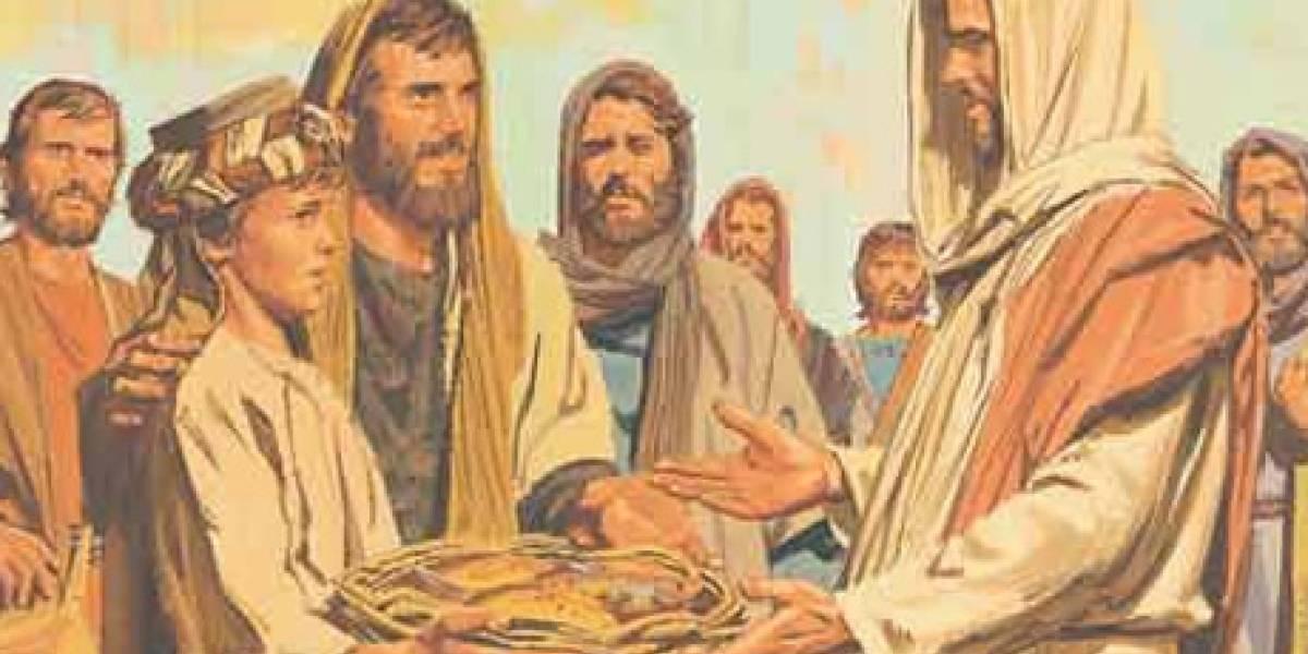 Resultado de imagen para imagenes jesus multiplicacion panes y peces