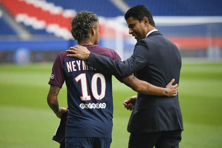 Neymar y Nasser Al-Khelaifi