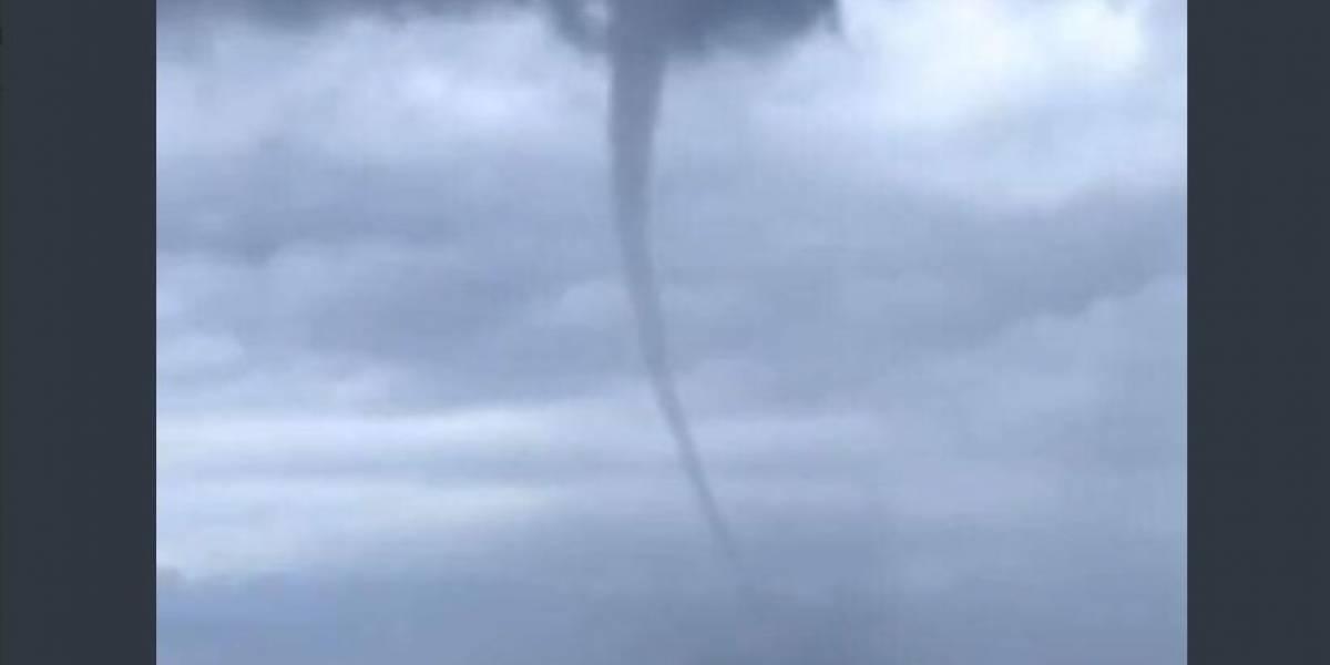 VIDEO: Se forma tornado de mar en Nuevo Vallarta