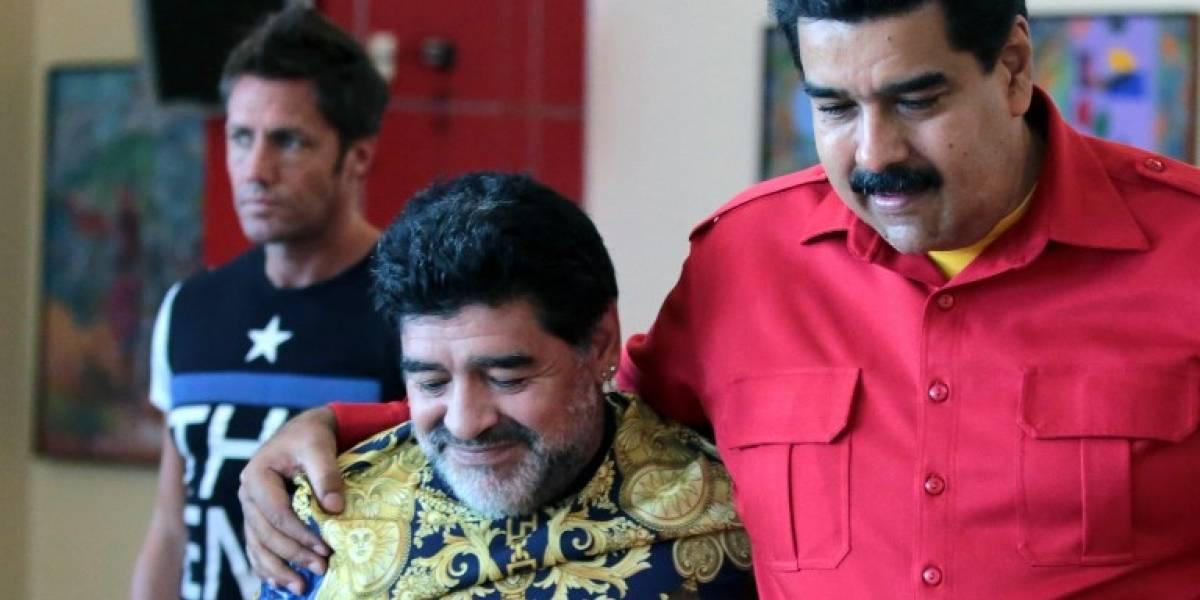 """El polémico mensaje de Maradona a Maduro: """"Cuando lo ordene, estoy vestido de soldado"""""""