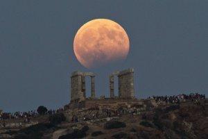 Eclipse lunar en Europa