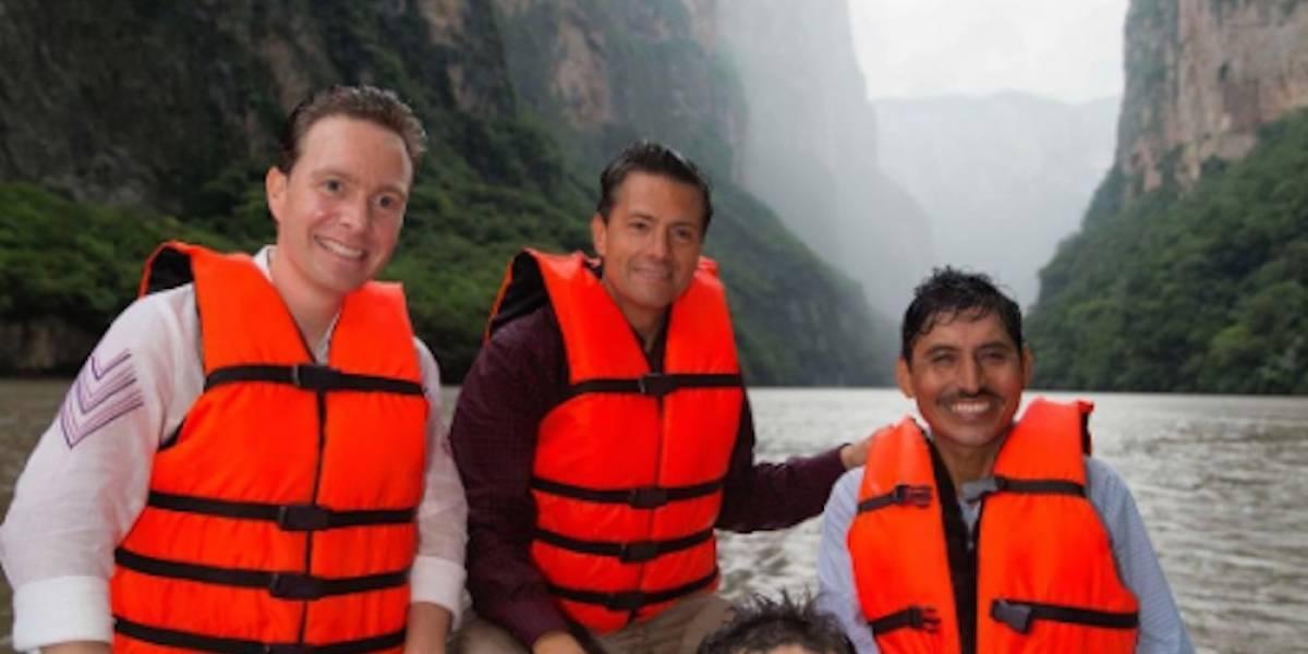 Así reaccionó Peña Nieto al visitar por primera vez el Cañón del Sumidero