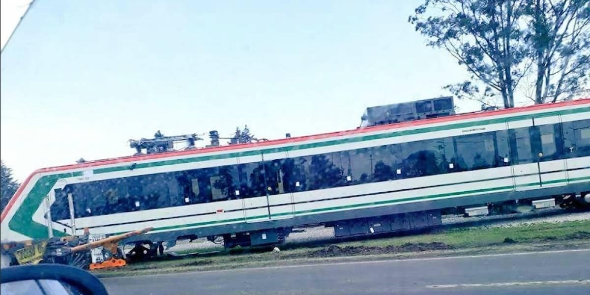 Falsa, caída de vagón del Tren México-Toluca: SCT