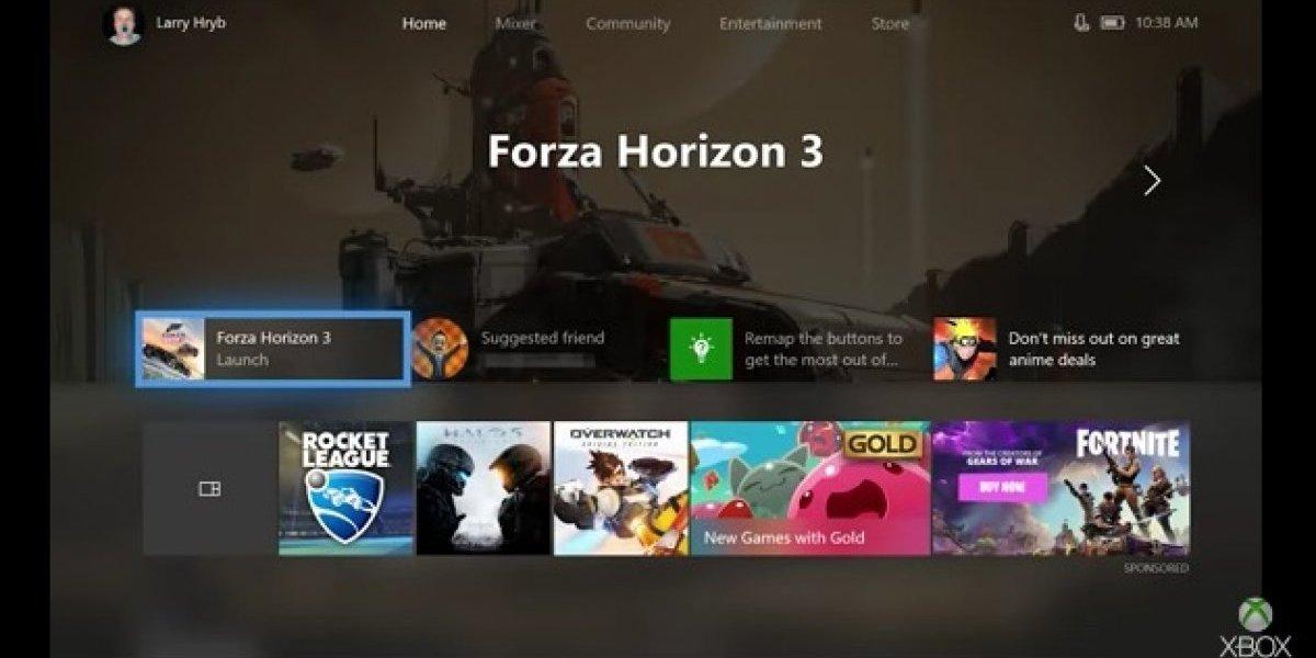 Xbox One presenta actualización de su nueva interfaz