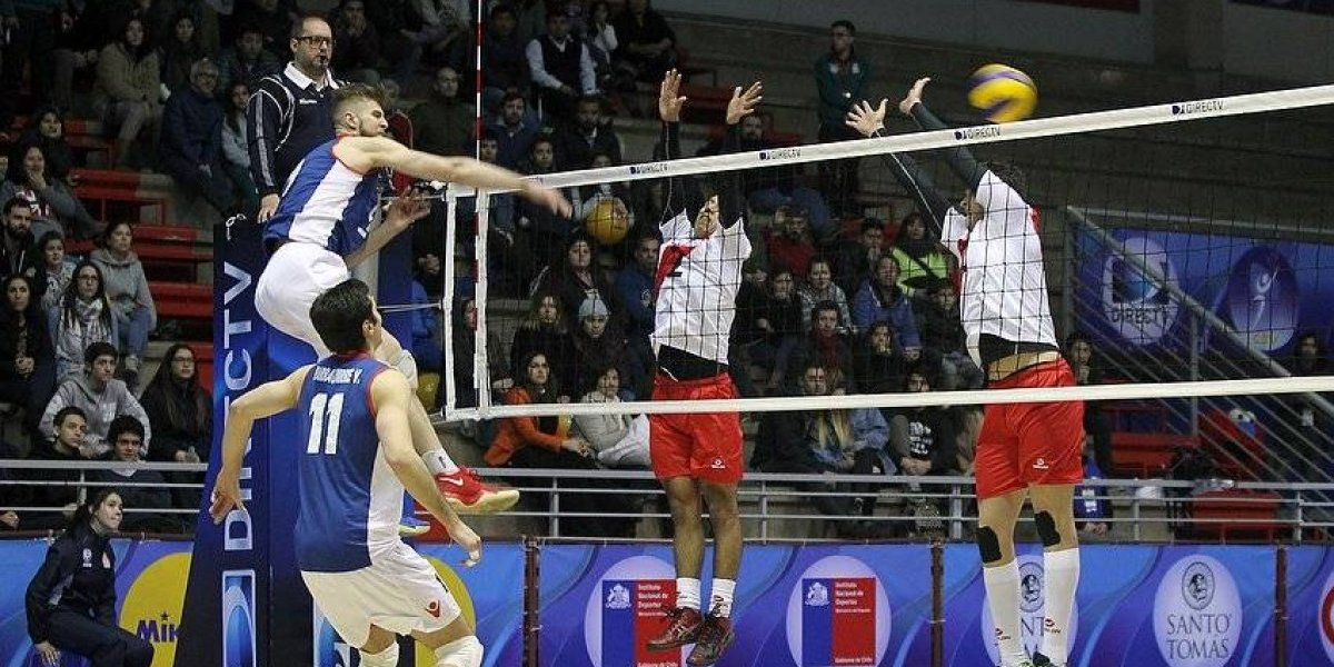 Chile debutó con una clara victoria ante Perú en el Sudamericano de vóleibol
