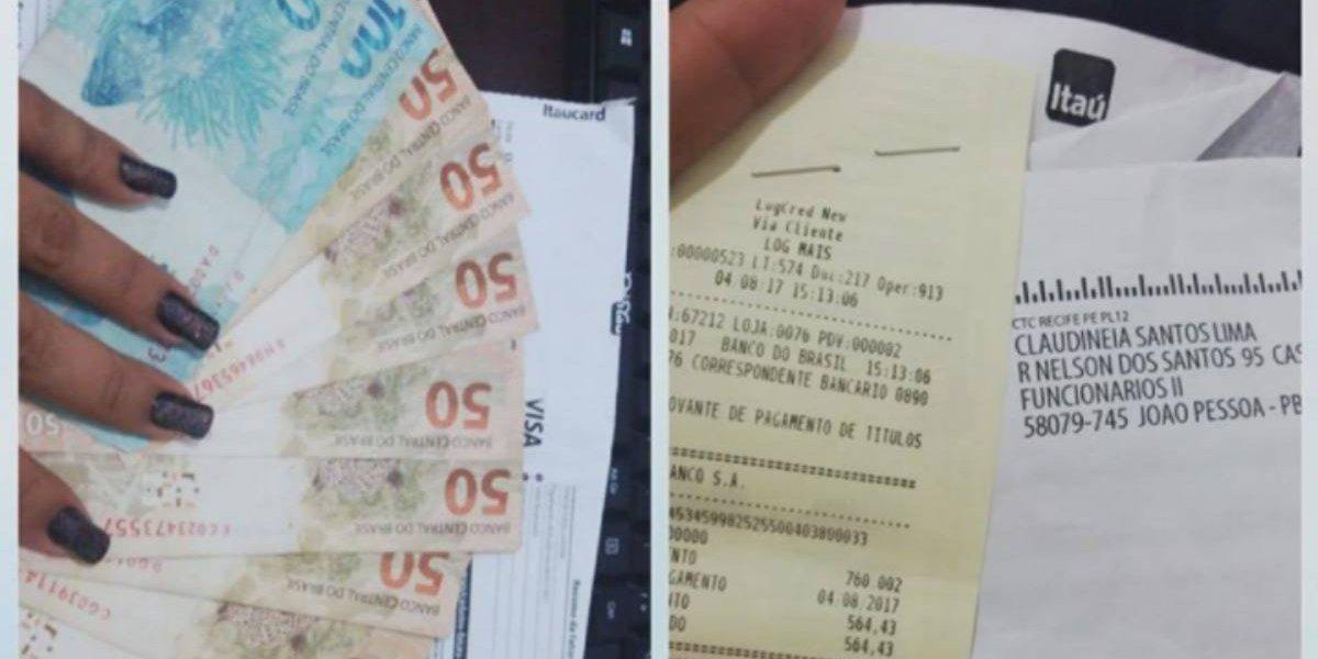 Tremendo ejemplo: mujer encuentra una factura y dinero en un autobús y termina pagando la cuenta