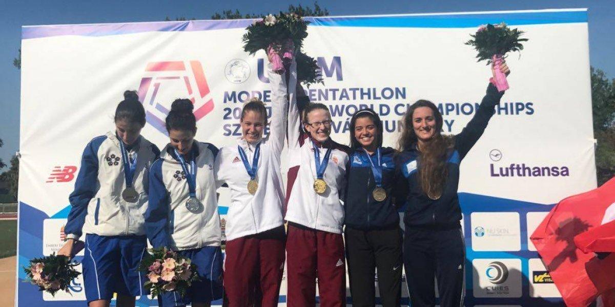 Dupla guatemalteca sube a podio mundial en pentatlón moderno