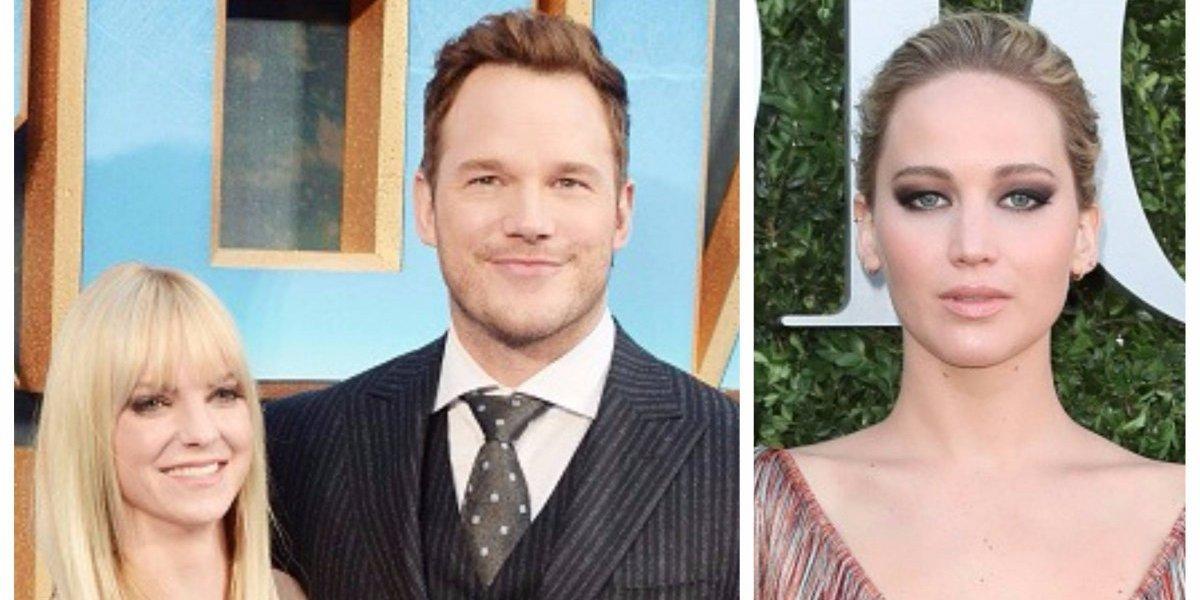 Acusan a Jennifer Lawrence de ser la culpable del divorcio entre Chris Pratt y Anna Faris