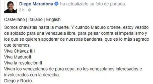 Comunicado de Diego Maradona