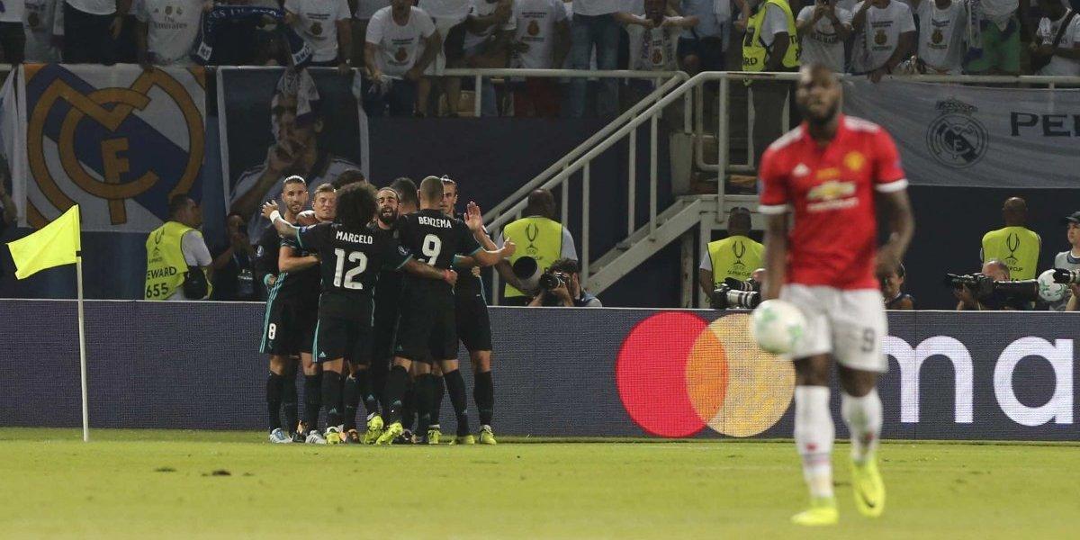 Real Madrid vence a Man U y gana la Supercopa de Europa