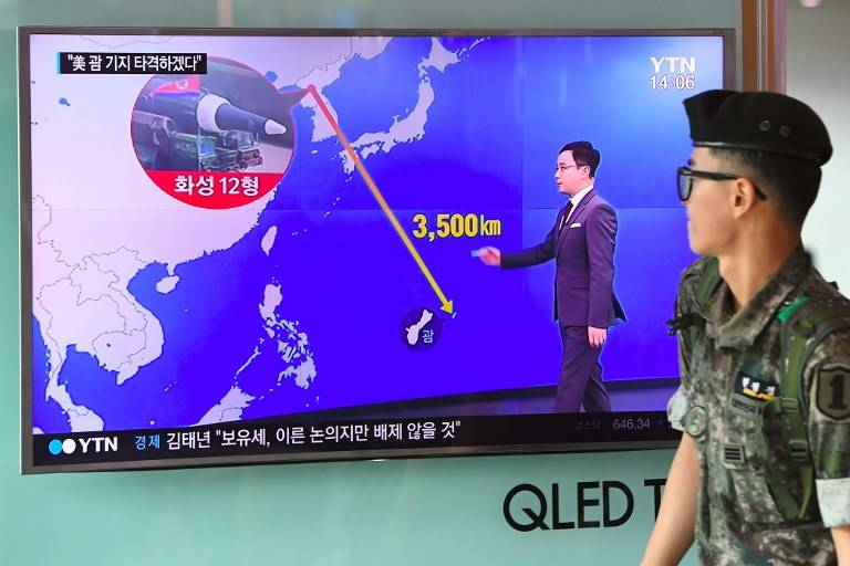 Advertencia a Corea del Norte