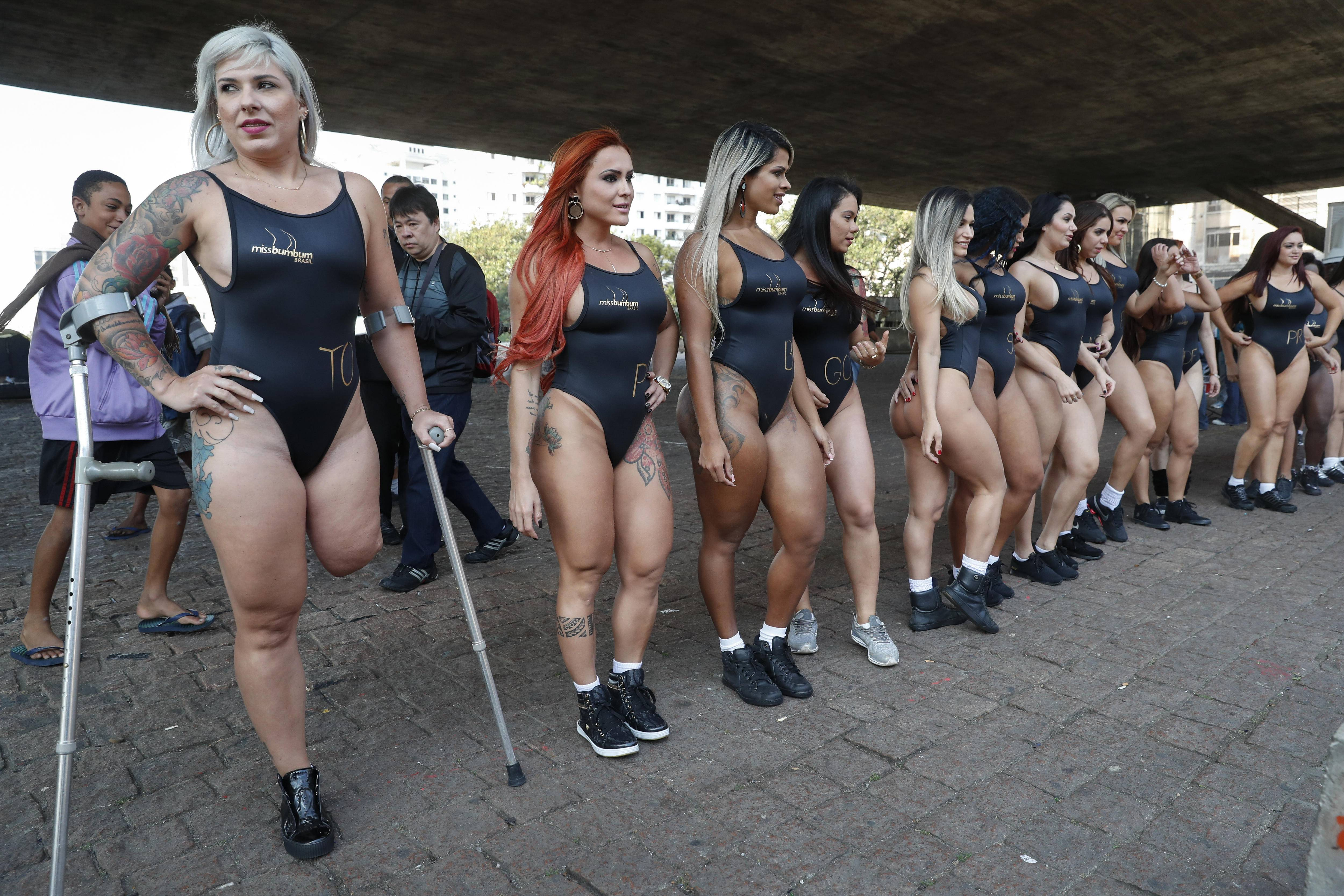 EFE Las candidatas a Miss Bumbum