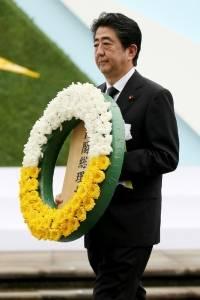 Shinzo Abe, en el 72 aniversario de la bomba atómica en Nagasaki