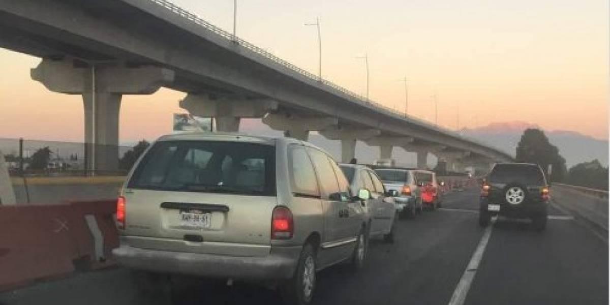 Carambola en la México-Puebla deja varios lesionados; hay 14 vehículos involucrados
