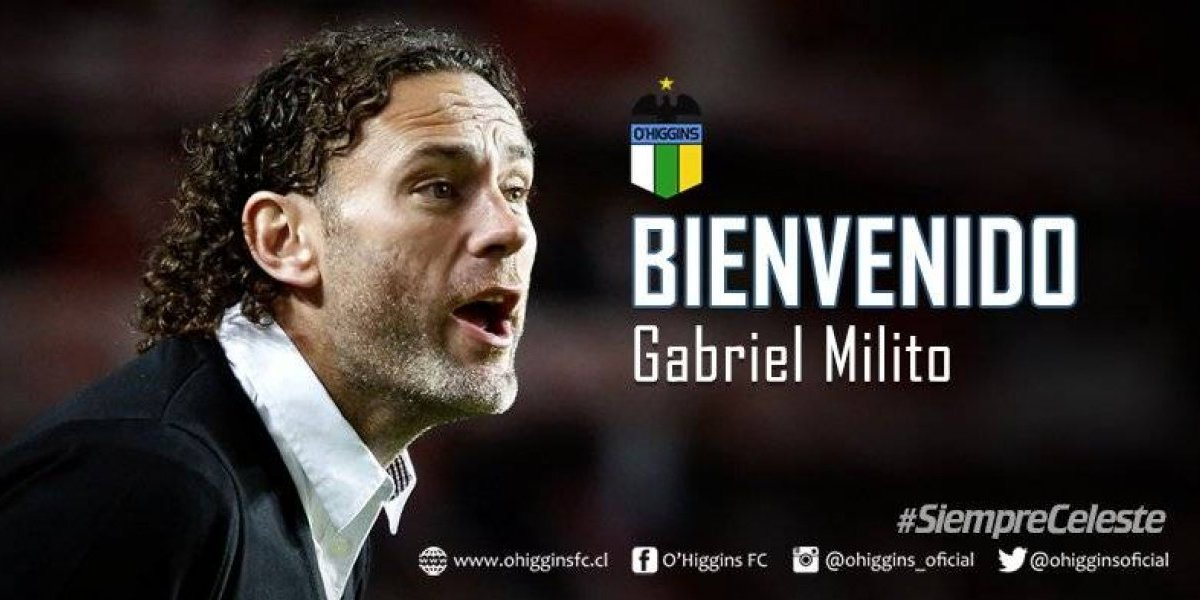 O'Higgins mantiene el estilo argentino y oficializa a Gabriel Milito como nuevo DT