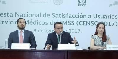 El 83% de los derechohabientes está satisfecho con servicio del IMSS: Arriola