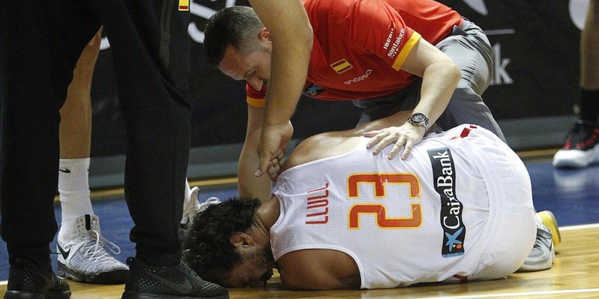 VIDEO: Sergio Llull sufre terrible lesión de ligamentos