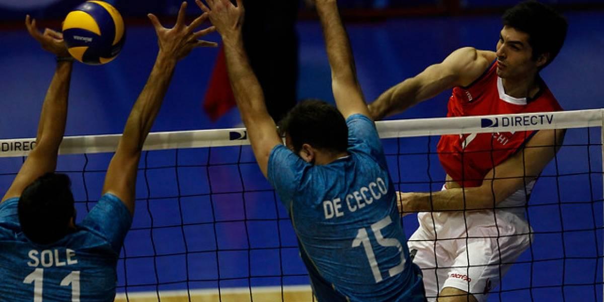 Chile dio batalla pero terminó cayendo ante Argentina en el Sudamericano de vóleibol