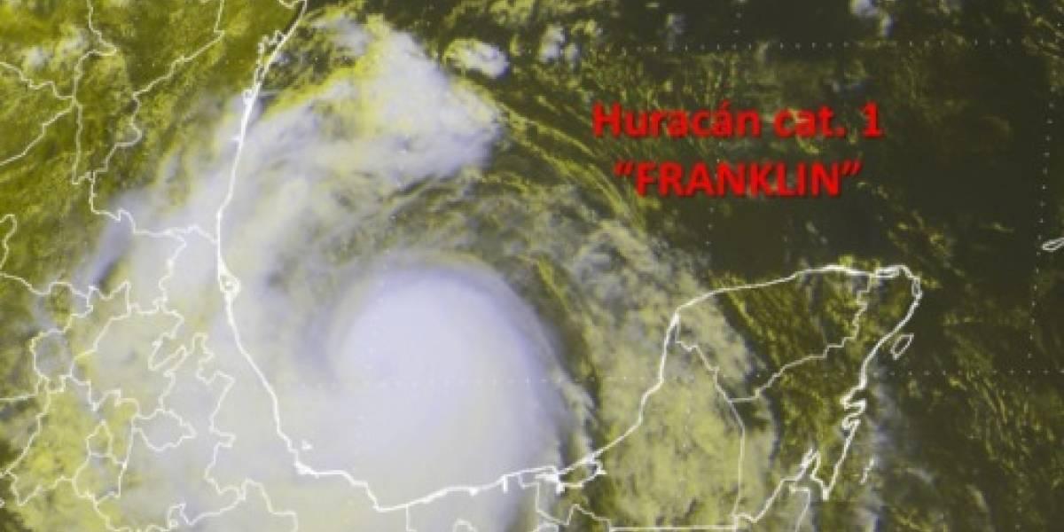 'Franklin' se convierte en huracán categoría 1