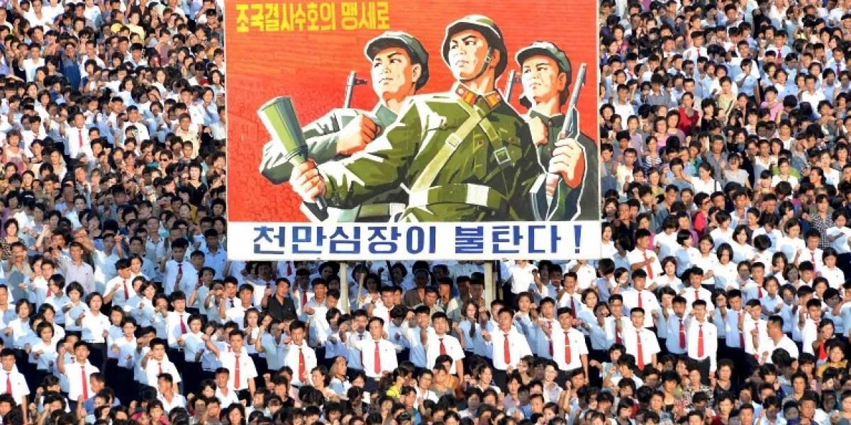 Los norcoreanos desafían a Trump con una manifestación masiva de apoyo a Kim Jong-un